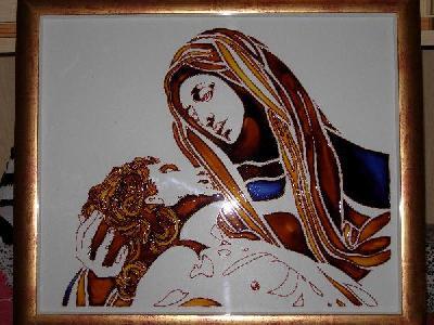 Pittura pittura su vetro vetrate artistiche mercatino for Disegni su vetro