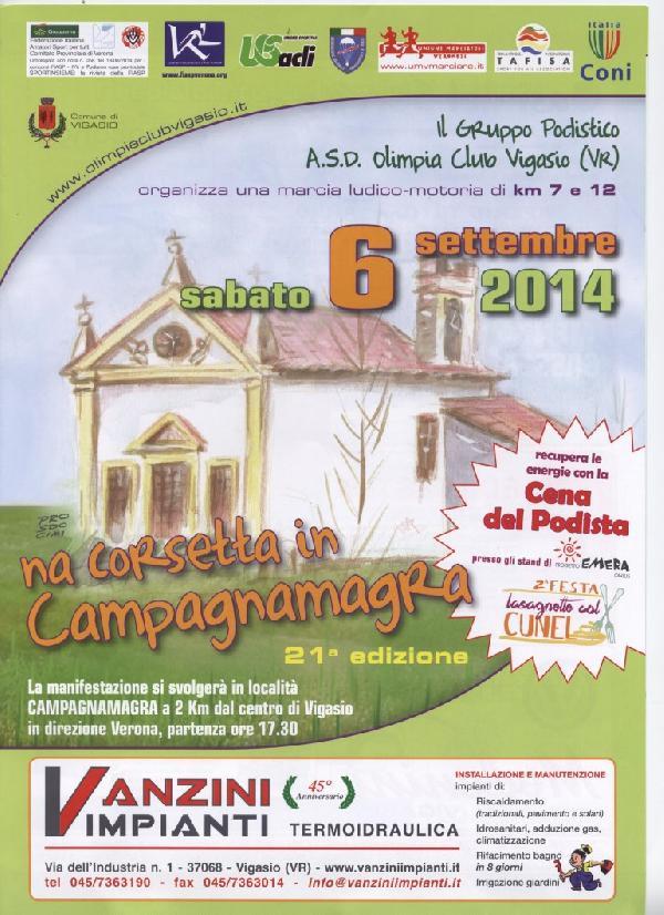 Unione Marciatori Veronesi Calendario.Gara Runner Na Corsetta In Campagnamagra 2014