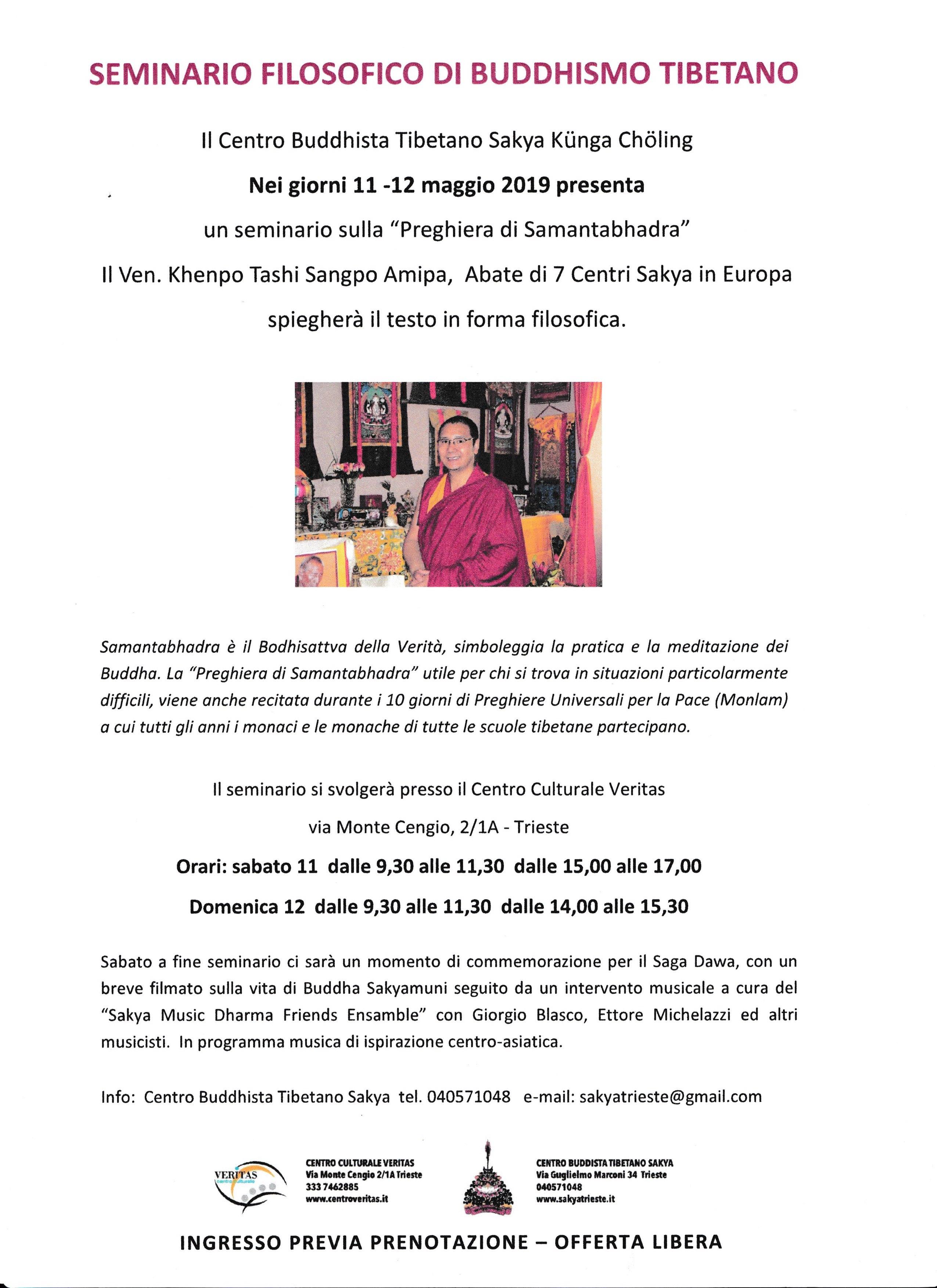 Calendario Tibetano.Seminario Filosofico Di Buddhismo Tibetano