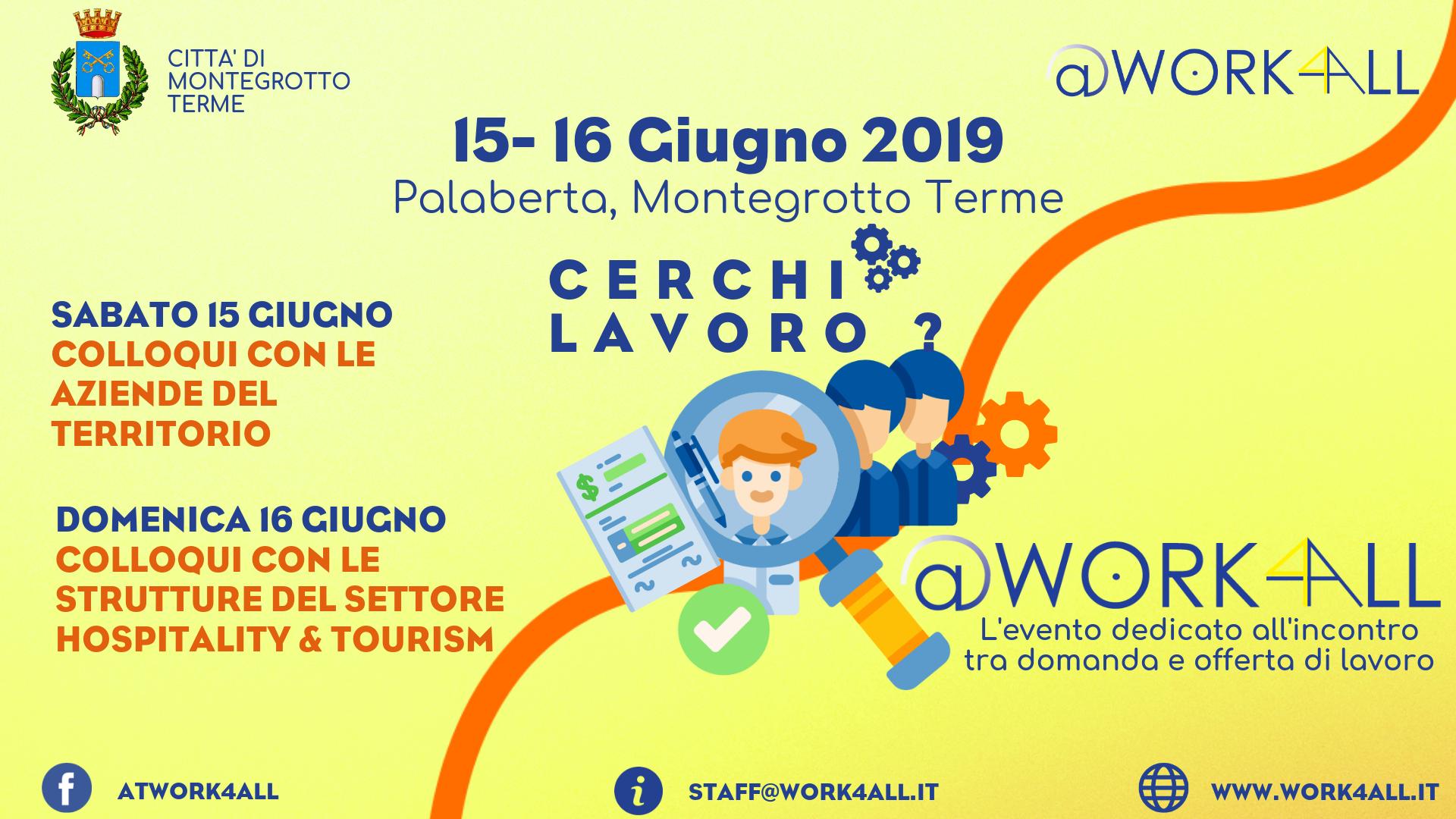 Calendario Manifestazioni Abano Terme.Work4all Sabato 15 E Domenica 16 Giugno