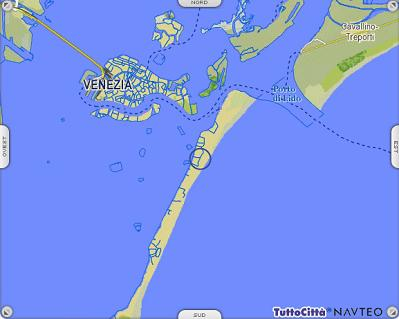 Cartina Di Venezia E Dintorni.Isole Di Venezia Il Lido Venezia