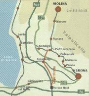 mappa cascate molina